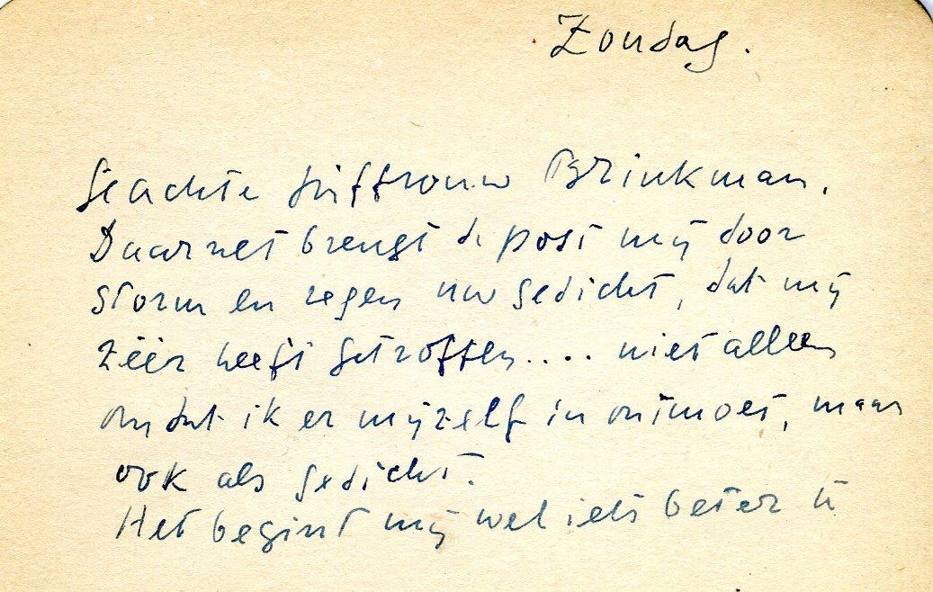 Cornelia Brinkman Briefwisseling Met Adriaan Roland Holst